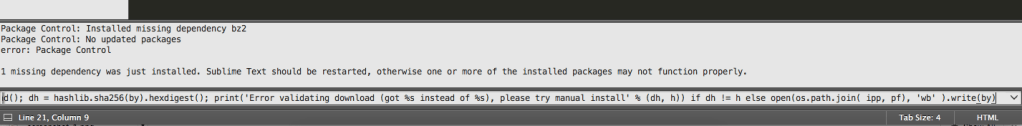 Package Manager Install