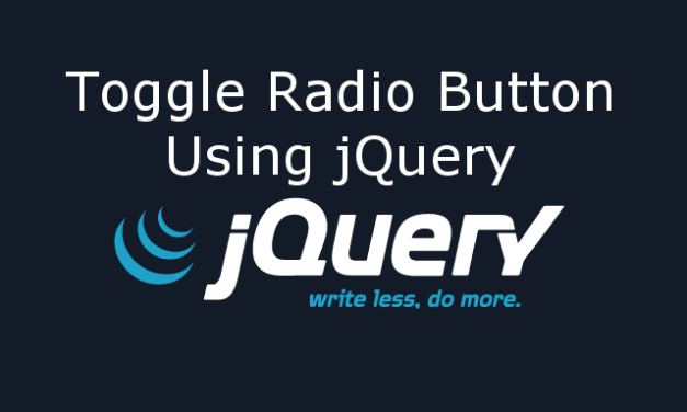 Toggle Radio Button using jQuery