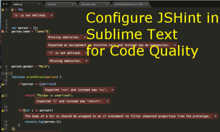 Configure JSHint in Sublime Text for Code Quality