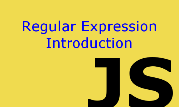 Introduction to Regular Expression in Javascript