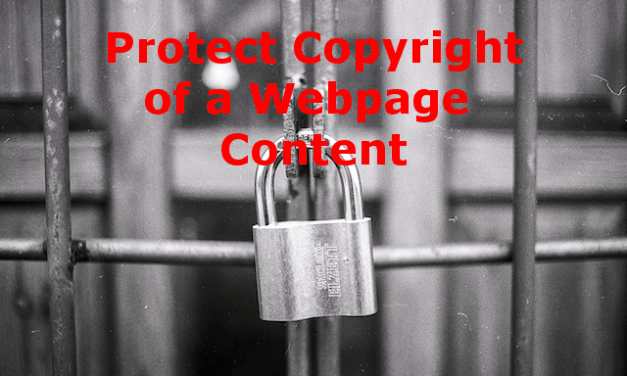 How to Protect Copyright of Webpage Content