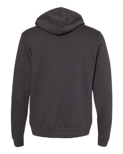 BELLA & CANVAS Customizable Hoodie in Dark Grey- Back