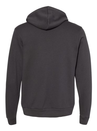 BELLA & CANVAS Customizable Hoodie in Dark Grey- Back