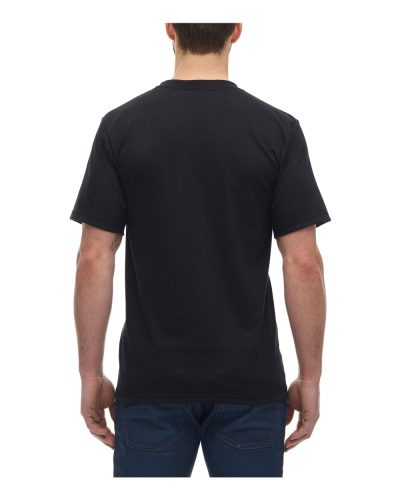 Rear view of customizable Canadian Made Kings Athletics T-Shirt in black.