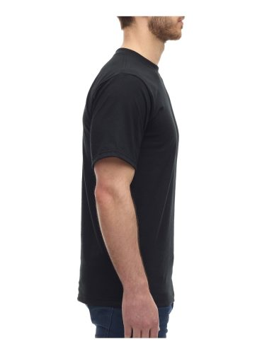 Side View of customizable Canadian Made Kings Athletics T-Shirt in black.