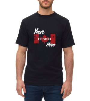 Canadian Made Kings Athletics T-Shirt in Black customized by S'more Clothing Co.