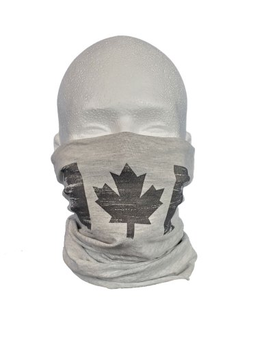 Canadian flag on neck buff - single layer mask