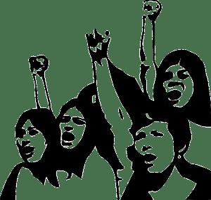 protest-demonstration-communism-fight-fists-girls