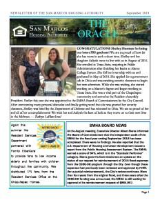 thumbnail of SMHA Oracle – September 2019