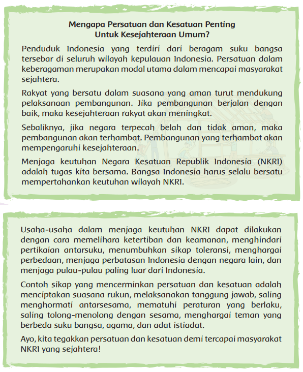 Halaman 123 Peta Pikiran Bacaan Mengapa Persatuan dan Kesatuan Penting Untuk Kesejahteraan Umum