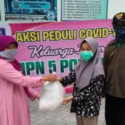 Aksi Peduli COVID-19 Keluarga Besar SMPN 5 Ponorogo