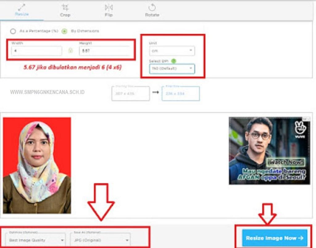 Cara Ubah Ukuran Foto 4x6 Online