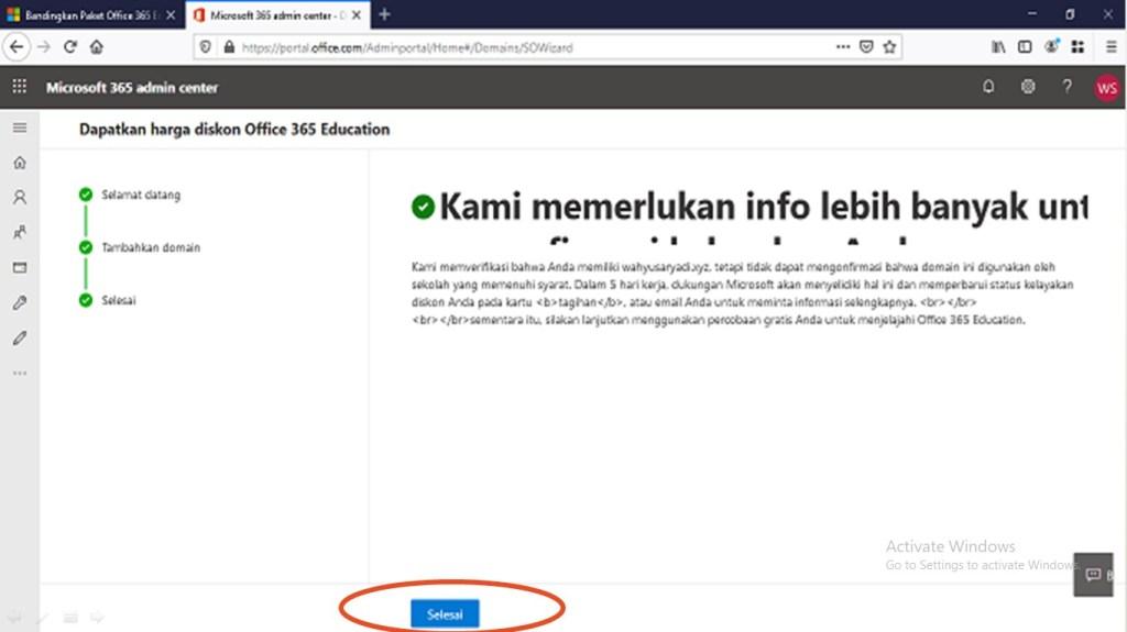 Deploy Office 365 Tahap 1 Sudah Selesai