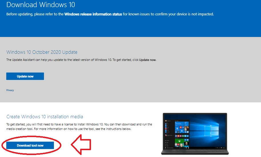 Cara Download Windows 10 Original Gratis Menggunakan Creation Tools