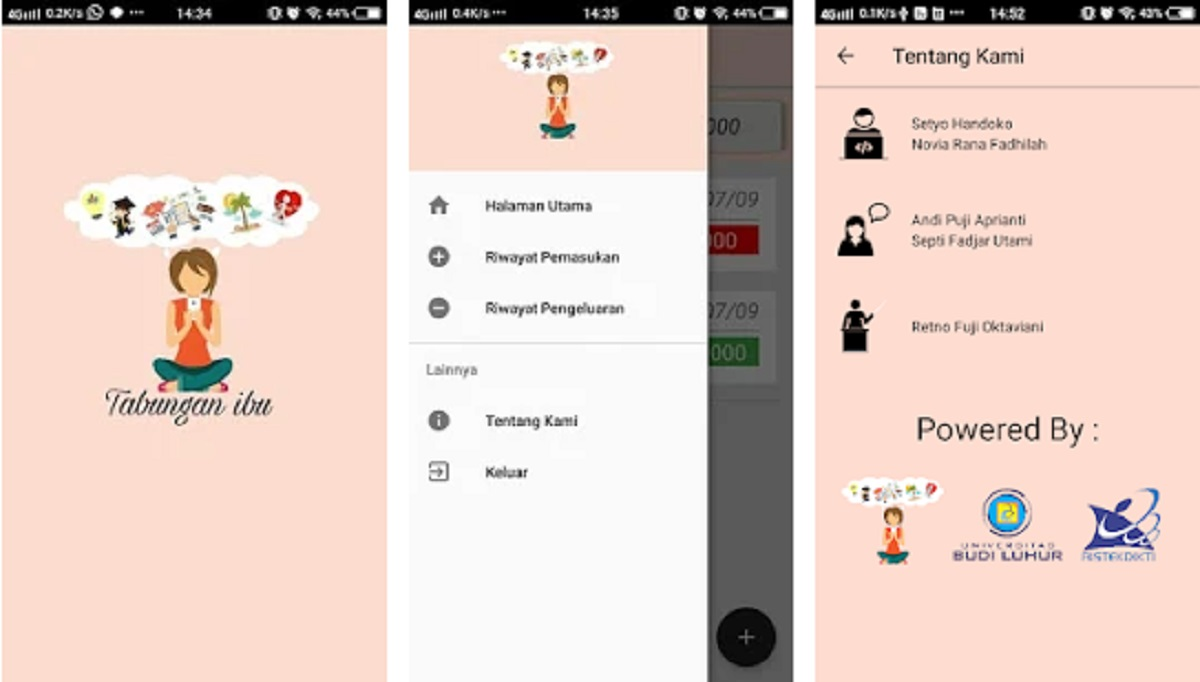 Aplikasi Tabungan Ibu
