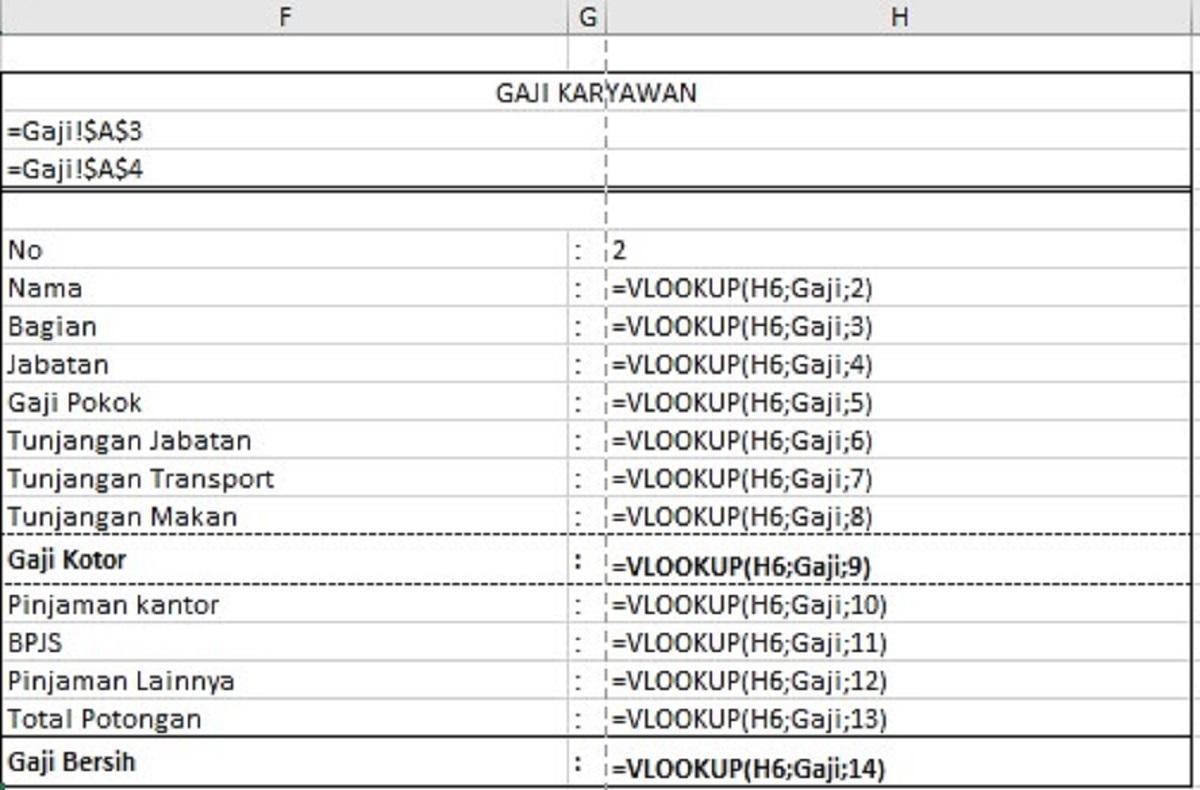 Download Slip Gaji Excel Otomatis