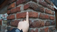 'Paving sized' bricks (1.75in) used in building architecture.