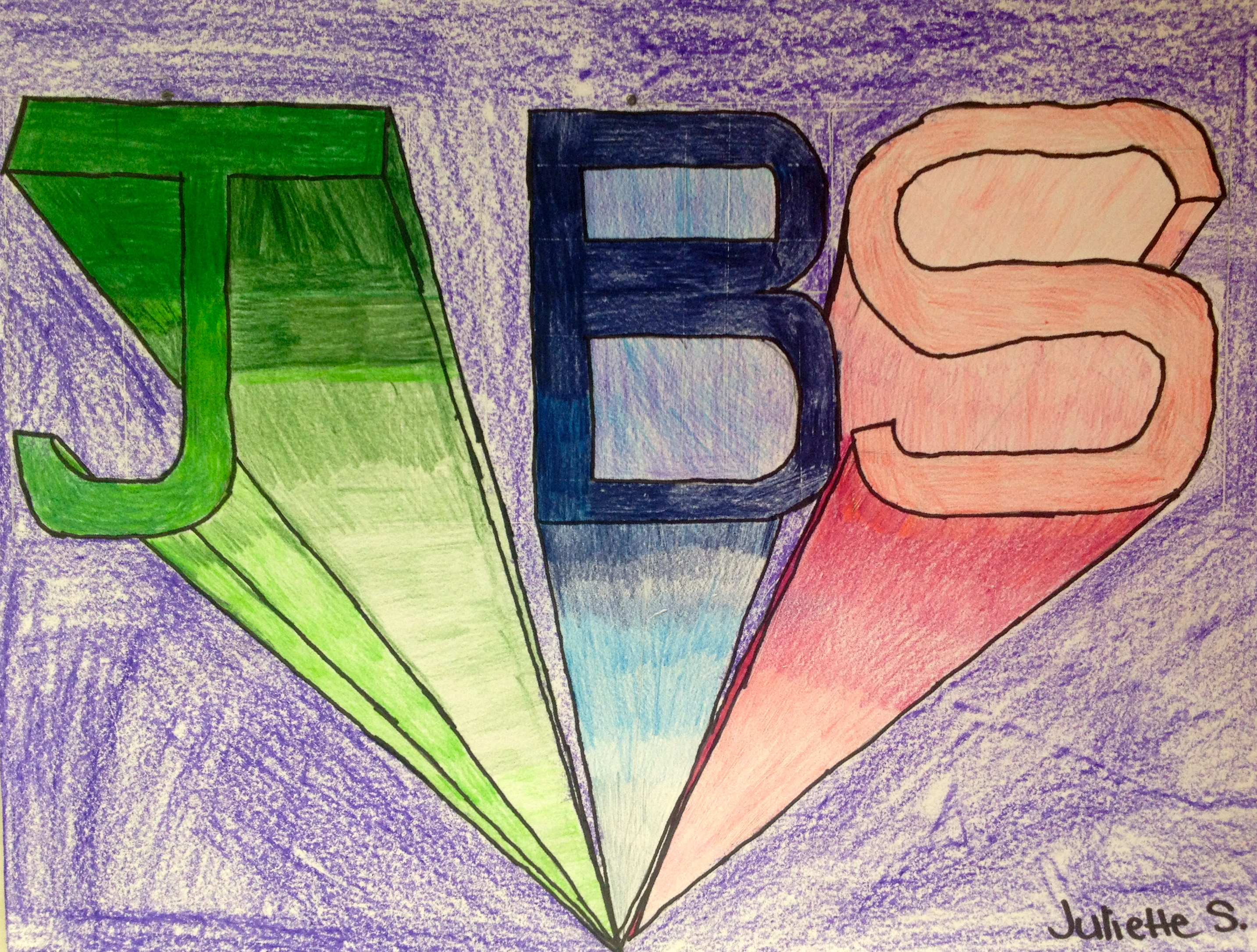 One Point Perspective Block Letters