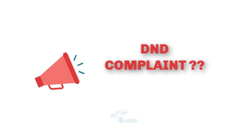 Register DND Complaint India