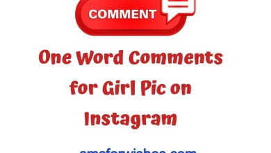 One Word Comments for Girl Pic on Instagram