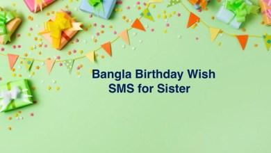 Bangla Birthday Wish SMS for Sister