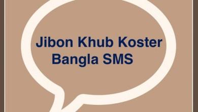 Jibon Khub Koster Bangla SMS