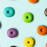 Colourful donut background