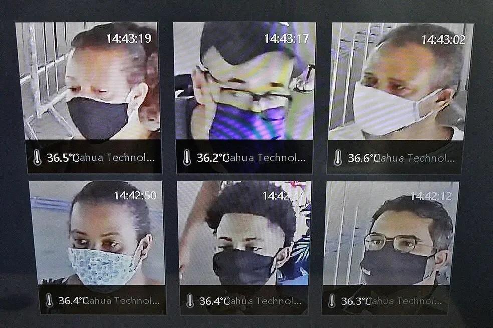 Covid-19: Começam a funcionar câmeras que medem temperatura das pessoas no metrô de Salvador
