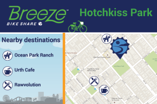 Hotchkiss Park connects to Ocean Park Ranch, Urth Cafe, Rawvolution