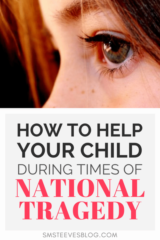 Advice for parents on how to talk to children when national tragedies strike. Learn tips on how to reduce fear and anxiety as well as keep the lines of communication open with your children. #trauma #ptsd #mentalhealth #children #anxiety