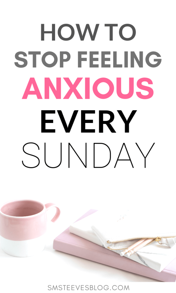 Do you experience anxiety around starting a new work week? Do you find yourself anxious Sunday night at the idea of having to go to work on Monday? Anxiety before the workweek is common but can negatively impact your weekend as a result. This post provides tips and advice on how to reduce anxiety and increase positivity around a new week ahead. Learn how to shift your mindset & enjoy your weekend without the anxiety of Monday creeping in. #motivation #selfcare #sunday #anxiety #depression