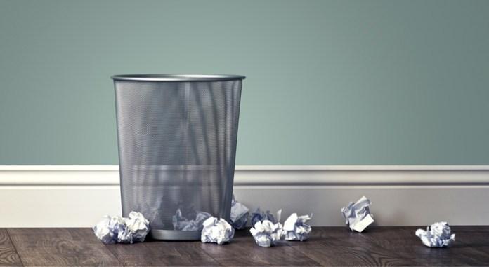 Wastepaper basket.