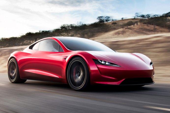 tesla roadster voiture autonome