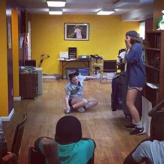@margaretpmarsh & Grai Kelley have been marvelous this week leading skit time during Kids Club.
