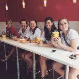 Enjoying some Frozen Yogurt. Don't tell the B team.