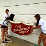 We've loved serving alongside the Salvation Army this week!