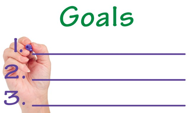 List your goals