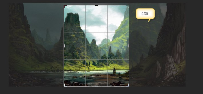 5. The Crop Box switches to the 4 x 8 aspect ratio