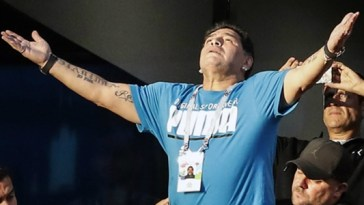 Diego Maradona is being paid ridiculous money to watch the World Cup