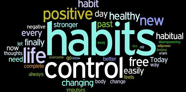 word cloud habits