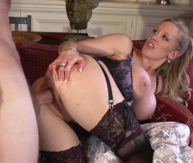 Busty Nanny Rebecca Moore Enjoys Anal In Lingerie