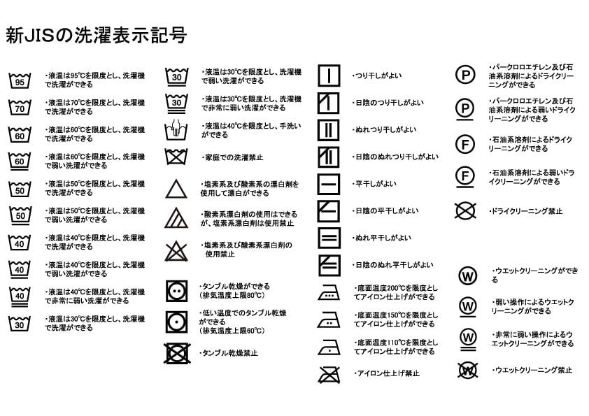 新JIS表記 洗濯表示 (洗濯ネーム) (品質ネーム) 無料 ダウンロード