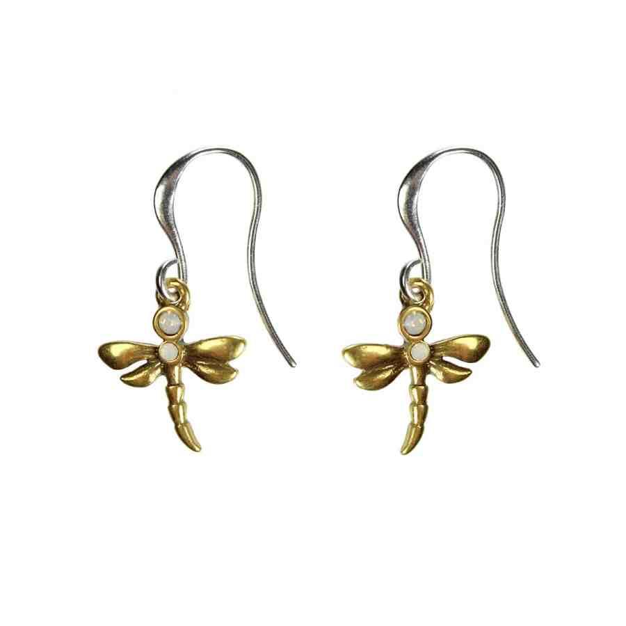 Dragonfly örhängen, silver/guld
