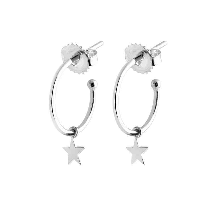 Mini Hoops Star örhängen, silver