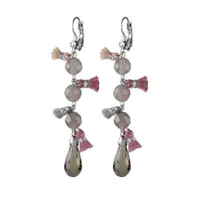 Samara örhängen, silver/grå opal