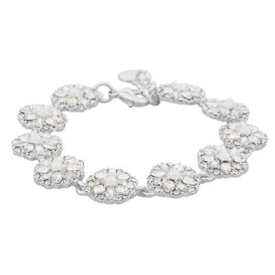 Blossom armband, silver/kristall