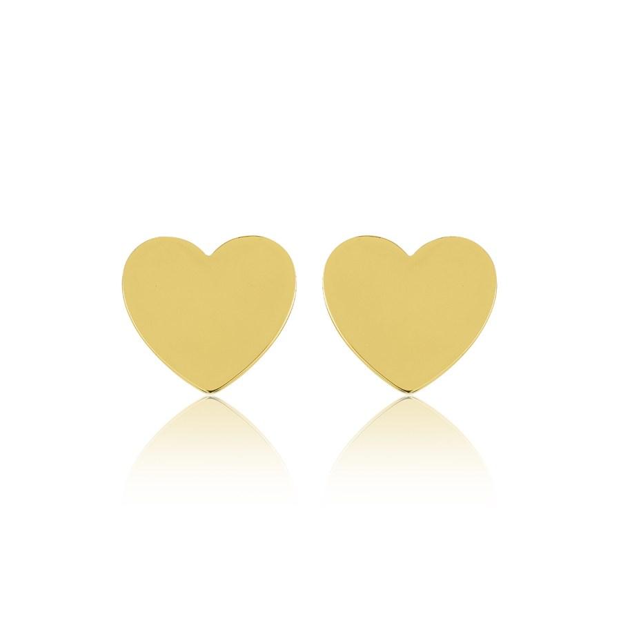 Heart mini studs, guld