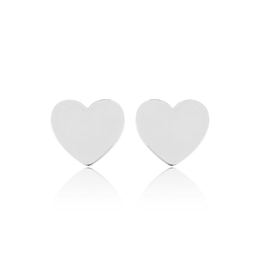 Heart mini studs, silver