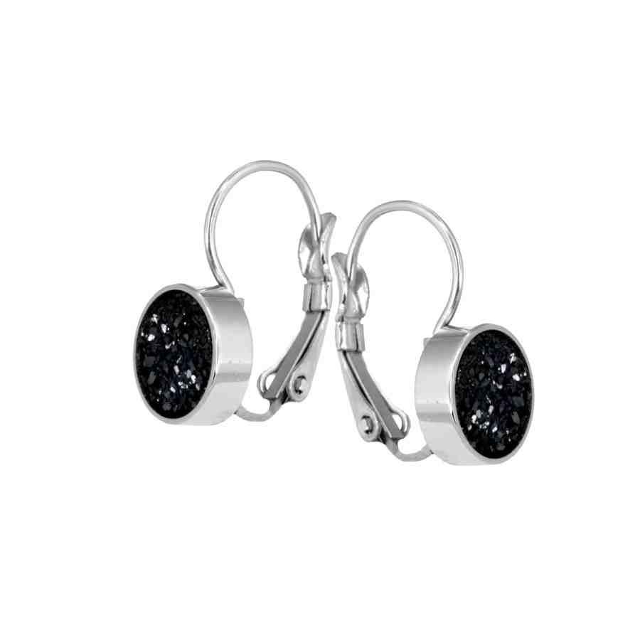 Iza-earring-silver-black