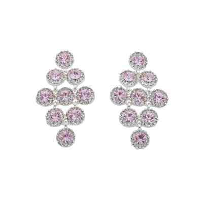 Swire Pendant Örhängen, silver/rosa